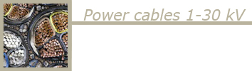 Power cables 1-30 kV